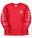 Primitive x Huy Fong camiseta roja de manga larga para niños