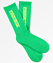 Psockadelic Classic Neon Green & Yellow Crew Socks