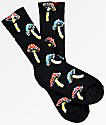 Psockadelic Fungi Black, Blue & Red Crew Socks