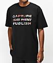 Publish Capture Edit Print Black T-Shirt