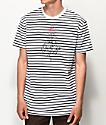 Quiet Life Stripe Rose White & Black Striped T-Shirt