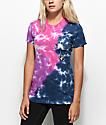 RIPNDIP Electranermal Purple, Pink & Blue Tie Dye Pocket T-Shirt