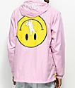RIPNDIP Everything Will Be Okay Pink Anorak Jacket