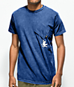 RIPNDIP Hang In There Nermal Blue Wash Pocket T-Shirt