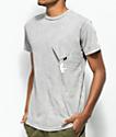 RIPNDIP Hang In There Nermal Grey Wash Pocket T-Shirt