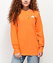RIPNDIP Lord Nermal Orange Long Sleeve Pocket T-Shirt