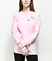 RIPNDIP Lord Nermal Pink Long Sleeve T-Shirt