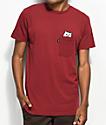 RIPNDIP Lord Nermal Pocket Burgundy T-Shirt