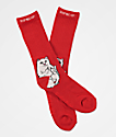 RIPNDIP Lord Nermal Red Crew Socks