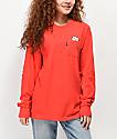 RIPNDIP Lord Nermal Red Long Sleeve Pocket T-Shirt