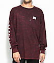 RIPNDIP Lord Nermal camiseta roja de manga larga con efecto tie die