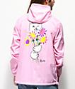 RIPNDIP Nermal Flowers chaqueta anorak rosa