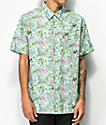 RIPNDIP Nermal camisa de manga corta turquesa con estampado floral