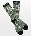 RIPNDIP Praying Hands Army Green Melange Crew Socks