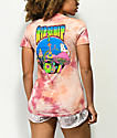 RIPNDIP Psychedelic Coral Acid Wash Pocket T-Shirt