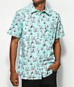 RIPNDIP Stoner Mint Short Sleeve Button Up Shirt