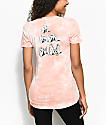 RIPNDIP Stoner camiseta en color melocotón con efecto tie dye