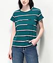 RVCA Big Stripe Spruce T-Shirt
