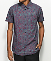 RVCA Brong Navy Floral Woven Short Sleeve Shirt
