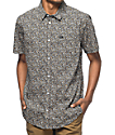 RVCA Cluster Mini Floral Short Sleeve Button Up Shirt