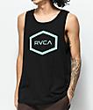 RVCA Hex Black & Mint Tank Top