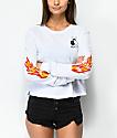 RVCA Pelletier Firing Pins White Long Sleeve T-Shirt