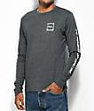 RVCA Scrawl Charcoal Long Sleeve T-Shirt