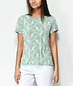 RVCA Suspension Palm Tree Granite Green T-Shirt