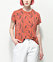 RVCA Suspension Palm Tree Red Clay T-Shirt