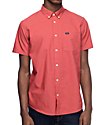 RVCA That'll Do Oxford Red Short Sleeve Button Up Shirt