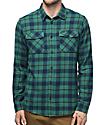 RVCA That'll Work camisa de franela en verde azulado