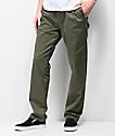 RVCA Weekend pantalones chinos en verde oliva