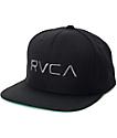 RVCA gorra snapback asargada en negro