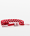 Rastaclat Classic Ramblin pulsera roja y blanca