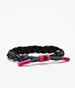 Rastaclat Dark Matter Black & Magenta Bracelet