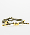 Rastaclat Medallion Knotaclat Green Bracelet