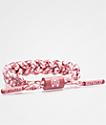 Rastaclat Miniclat Indo pulsera clásica rosa y blanca