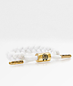 Rastaclat Miniclat Zion pulsera blanca y color oro