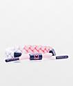 Rastaclat x Keep A Breast Uplift Pink & White Bracelet