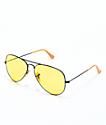 Ray-Ban Aviator Evolve gafas de sol en negro y color amarillo