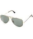 Ray-Ban Aviator gafas de sol clásicas G-15 en dorado y verde