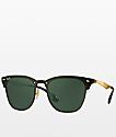 Ray-Ban Blaze Clubmaster gafas de sol en negro y oro