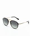 Ray-Ban Blaze Double Bridge Black & Gold Sunglasses