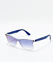 Ray-Ban Blaze Wayfarer Transparent Blue & Blue Gradient Mirror Polarized Sunglasses