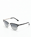 Ray-Ban Clubmaster Metal Grey Gradient Black Sunglasses