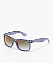 Ray-Ban Justin Flash gafas de sol de espejo degradada en verde y azul
