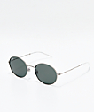 Ray-Ban Oversized Youngster Silver & Green Polarized Sunglasses