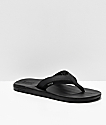 Reef Contoured Cushion Black On Black Sandals