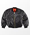 Rothco Boys MA-1 Black & Blaze Orange Reversible Bomber Jacket