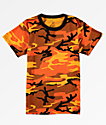 Rothco Boys Savage Orange Camo T-Shirt